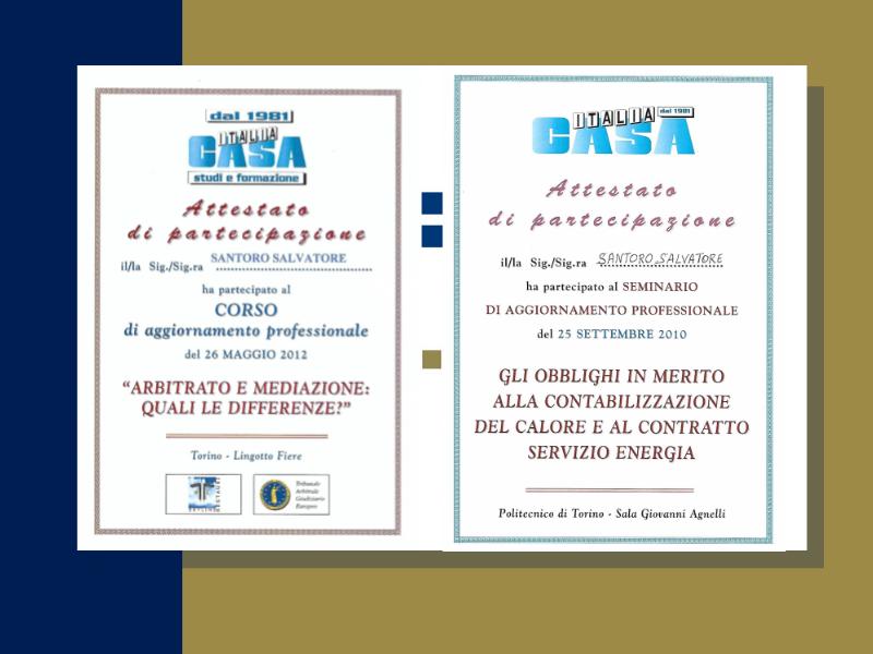 studio - santoro - immobiliare - torino - certificazioni - fiaip - colore blu e oro - casa- attestato e mediazione