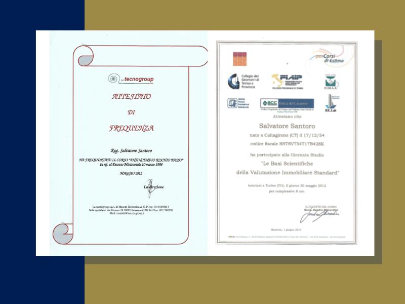studio - santoro - immobiliare - torino - certificazioni - fiaip - colore blu e oro - certificazioni - regione piemonte -